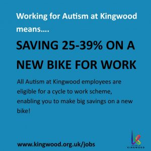 Working for Autism at Kingwood means saving money on a new bike for work