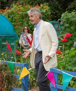 Jeremy Irons at Henley allotment open day