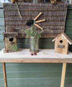 A woodwork project at Henley allotment, birdhouses