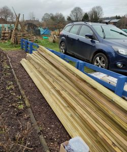 Wood donated to Autism at KIngwood's DIY and horticulture projects